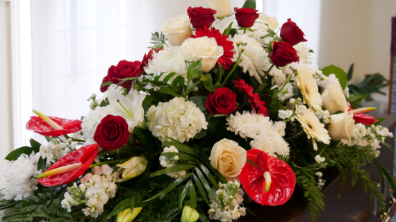 funeral director Chesterfield flowers donations